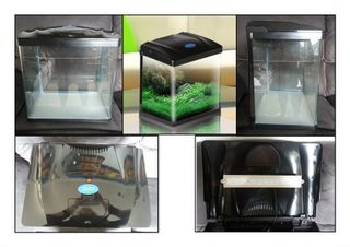 34L Glass Aquarium - Black
