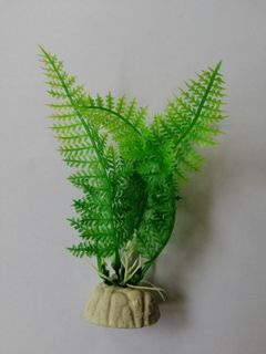 Bright Green Fern 9cm Plastic Plant