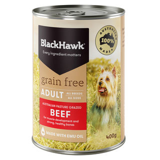 Black Hawk Grain Free Wet Dog Food Beef 400g