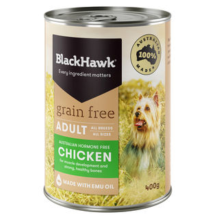 Black Hawk Grain Free Wet Dog Food Australian Chicken 400g