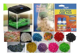 34L Complete Starter Aquarium Set Up For Cold Water Fish