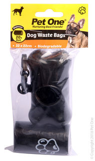 Pet One Waste Bags With Dispenser & 20pk Refill