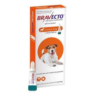 Bravecto Spot On Small Dog 4.5 - 10kg
