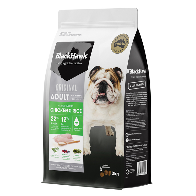 Black Hawk Dog Adult Chicken and Rice 3kg