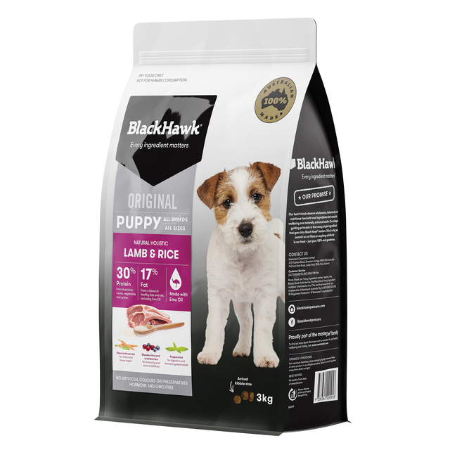 Black Hawk Puppy Lamb and Rice 3kg
