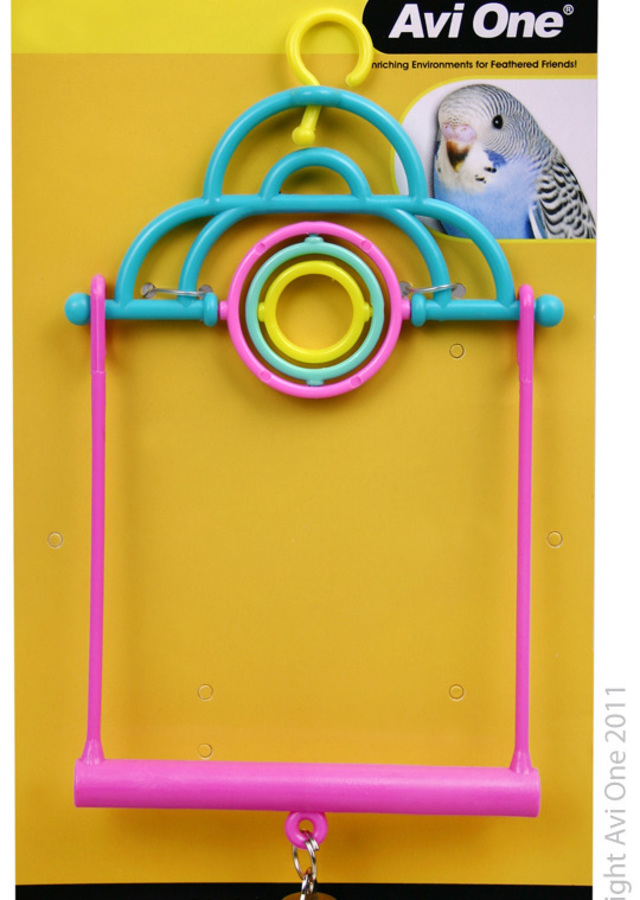 Avi One Bird Toy - 2 In 1 Swing With Turning Rings