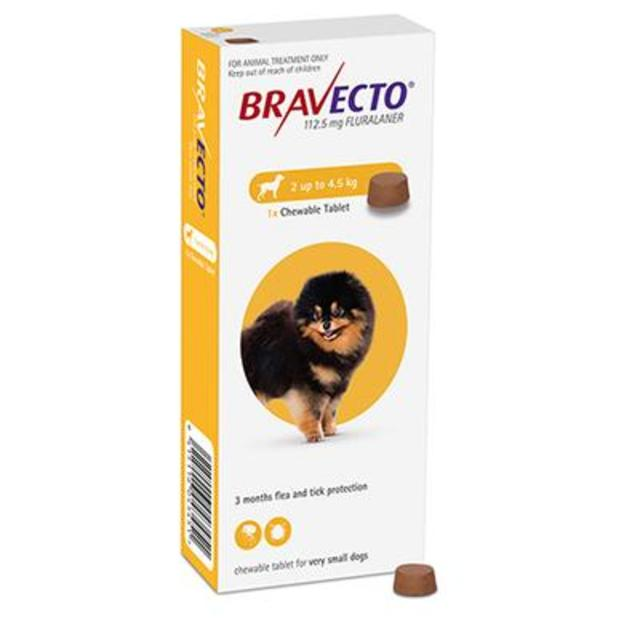 Bravecto Chewable X-Small Dog 2-4.5kg