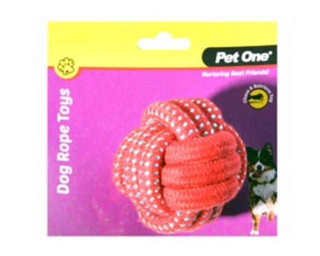 Rope Ball Red/Blue 8cm DIA